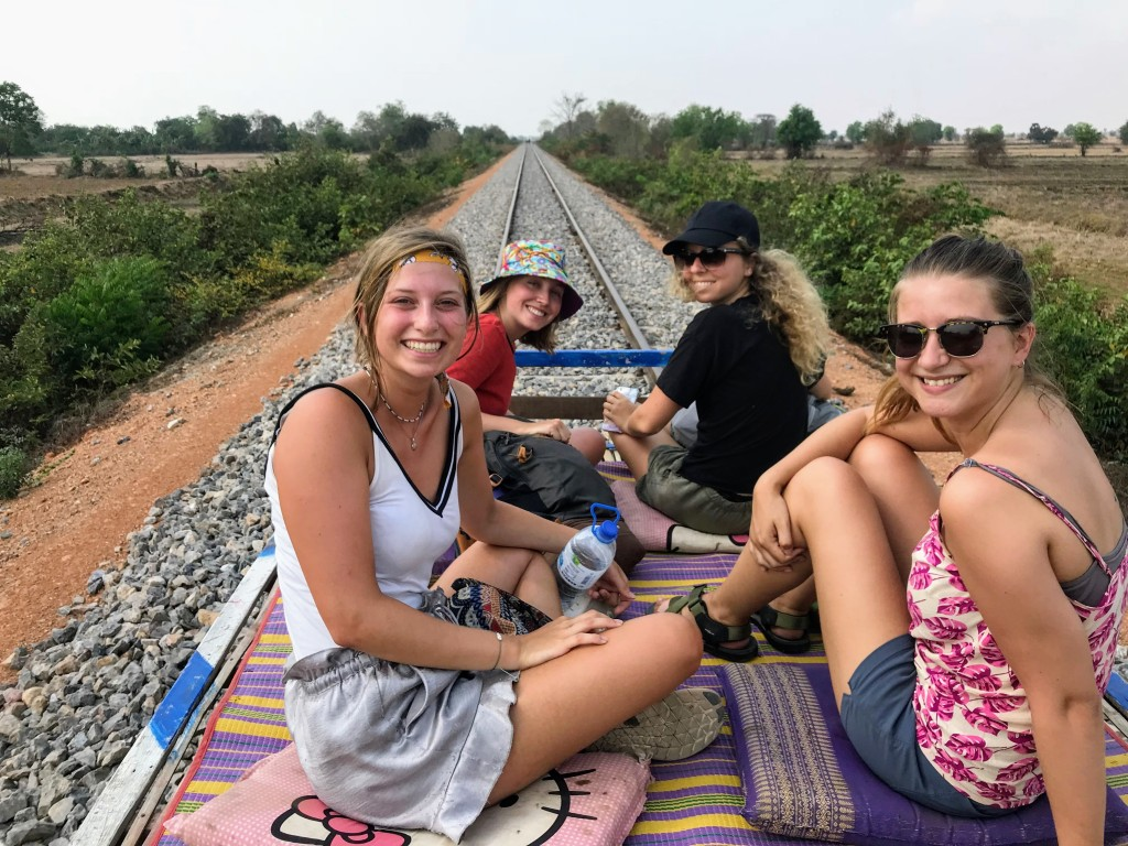 Cambodia Battambang bamboo train solo backpacking