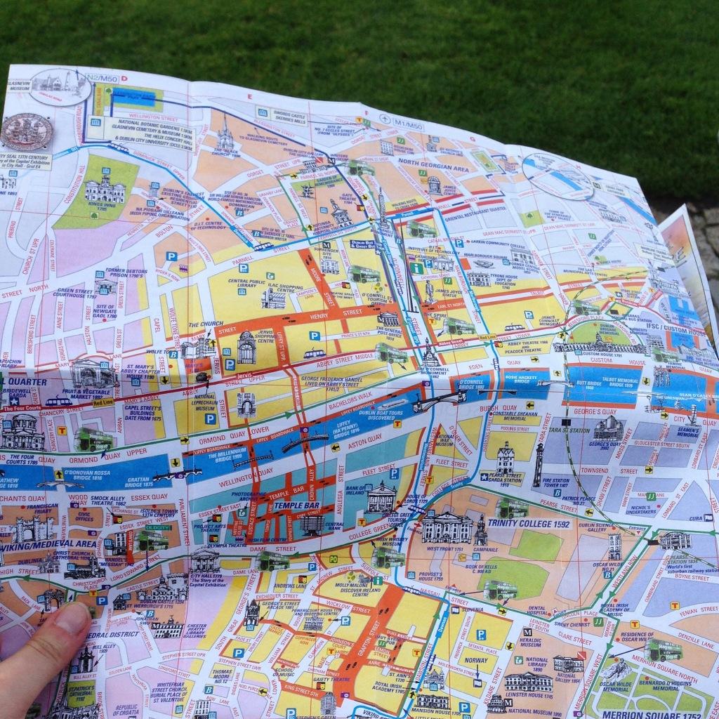 map Dublin Ireland walking tour walk travel tips money saving budget travel
