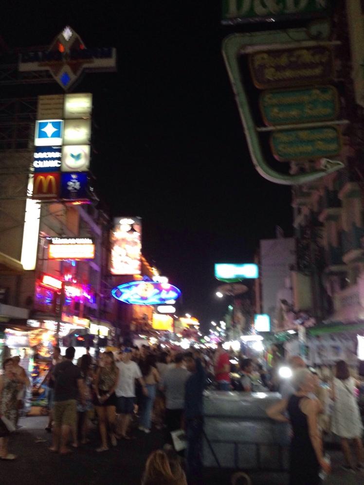 Khao San Road Bangkok Thailand at night party