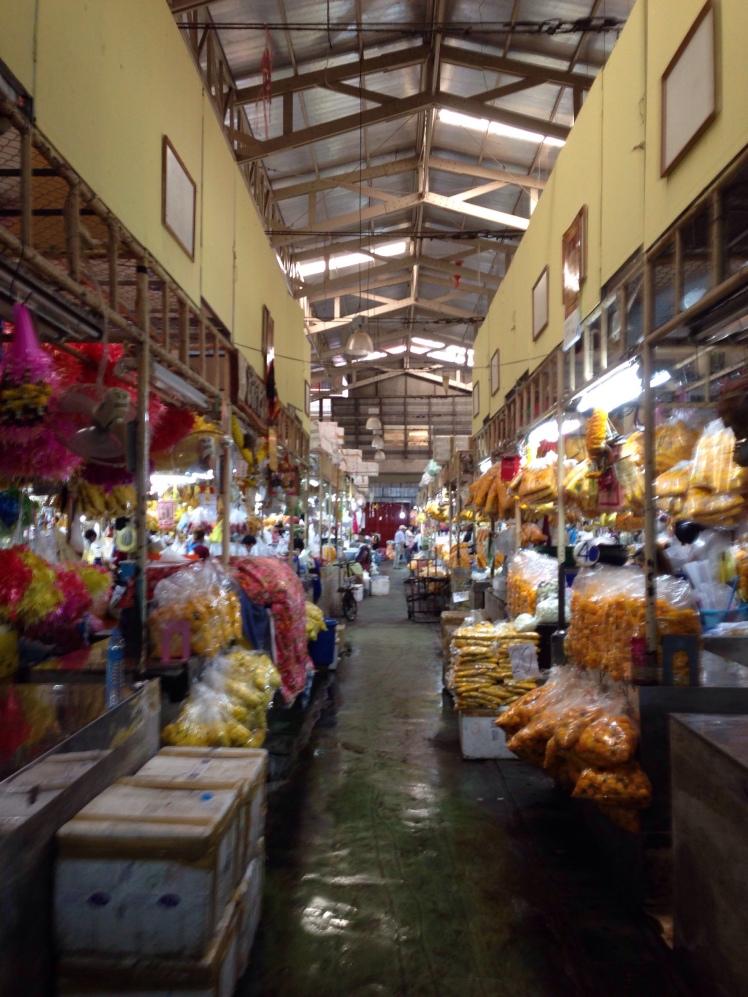 Bangkok Thailand flower market shopping