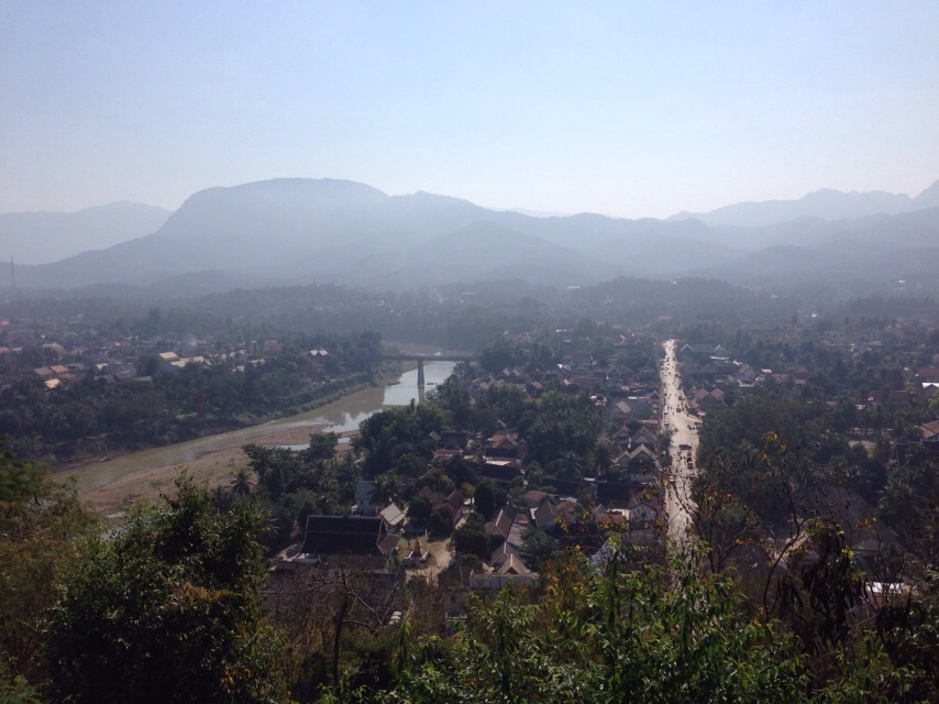 view Luang Prabang Phou Si Mountain Laos