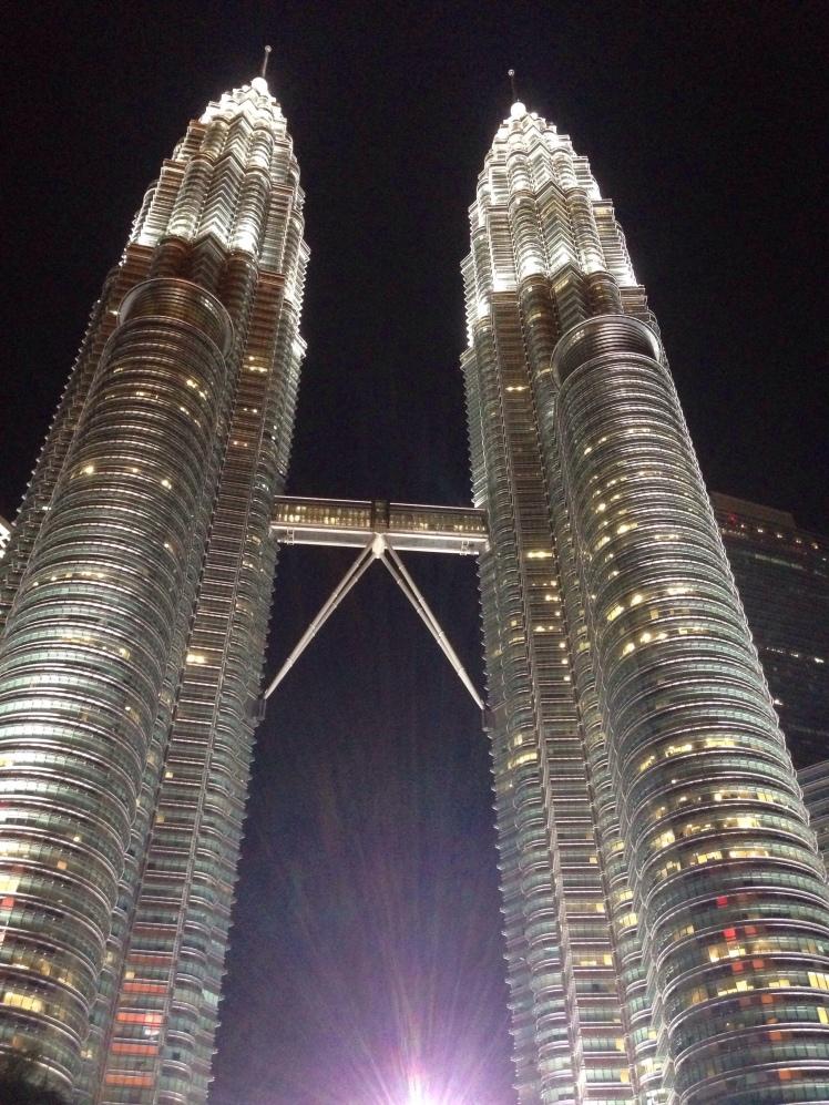 Petronas towers Kuala Lumpur Malaysia nigth lights