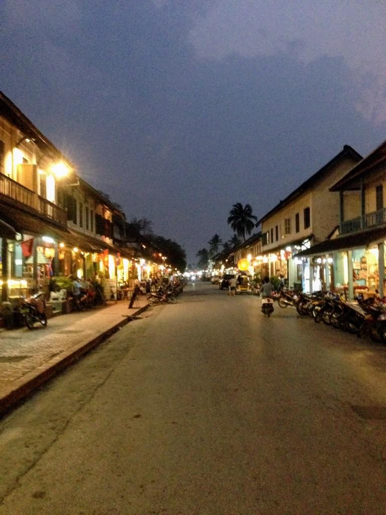 night market main street Luang Prabang Laos southeast asia