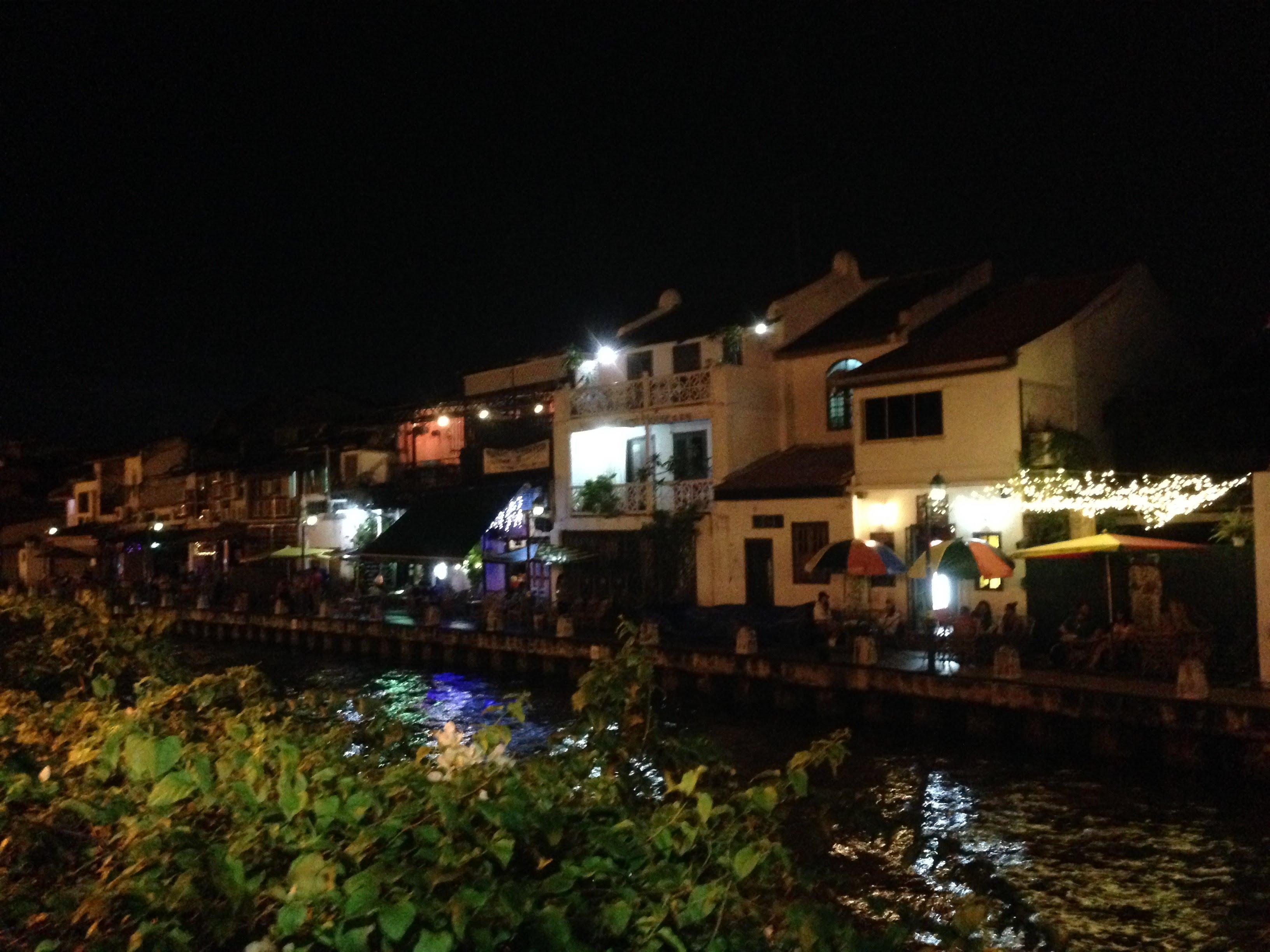 Malakka Melakka Malacca Malaysia night river