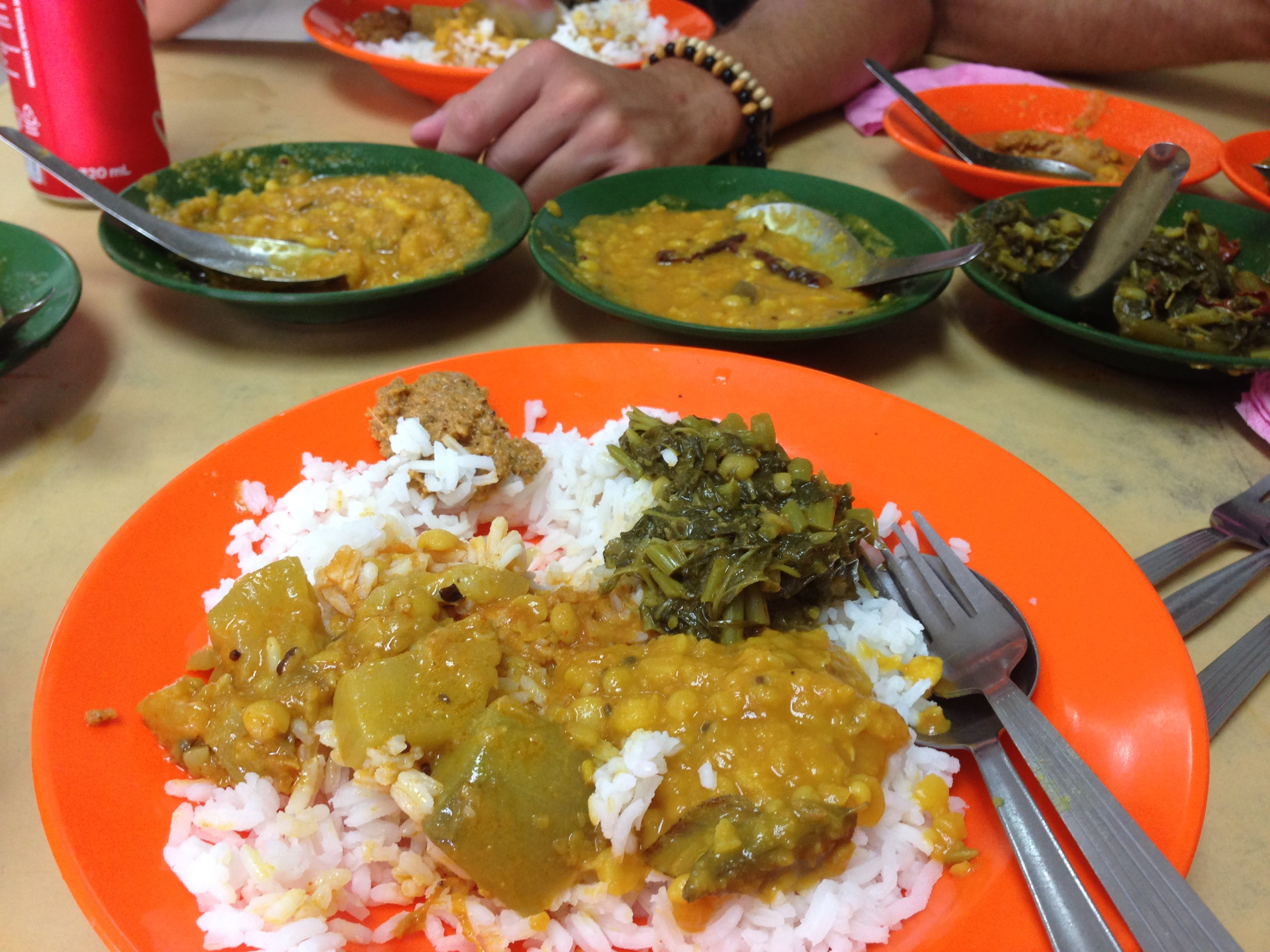 banana leaf rice curry Indian Malaysia