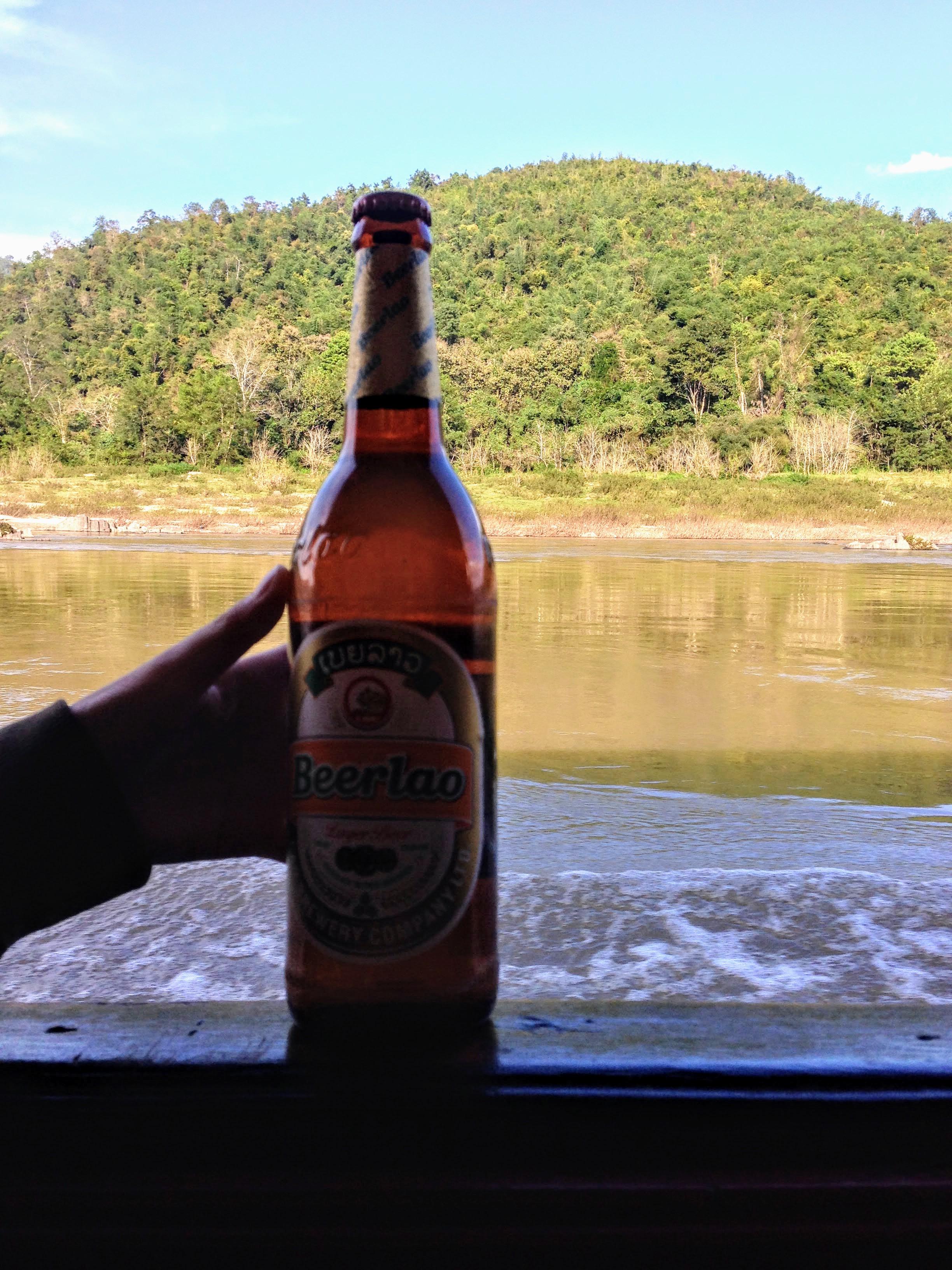 Lao beer drink