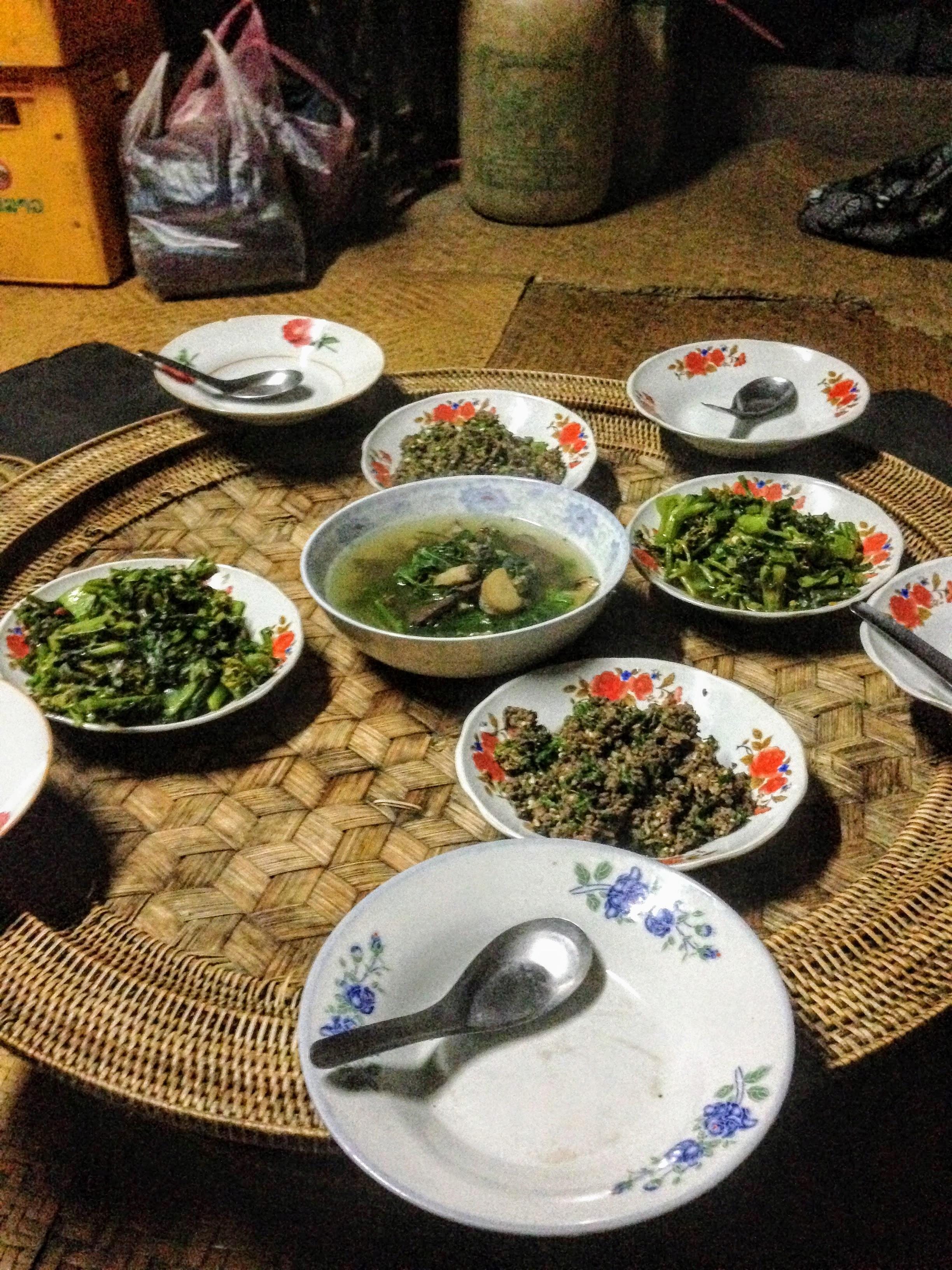 Laab beef Lao food cuisine