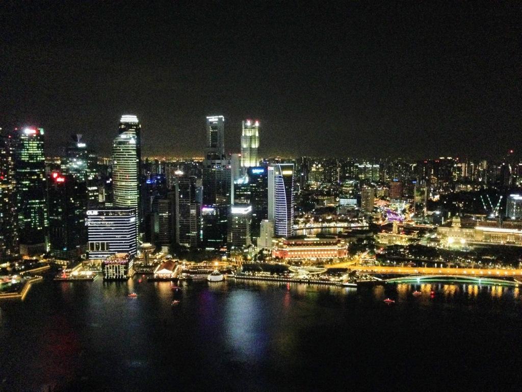 Marina Bay Sands Hotel Rooftop bar view Singapore