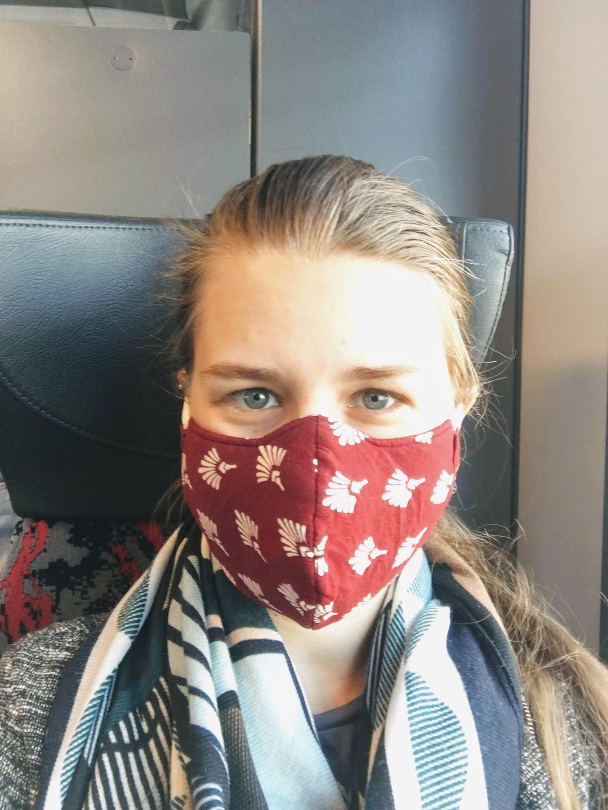 face mask covid-19 corona virus train