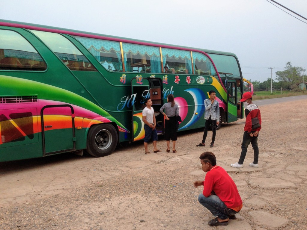 bus laos asia budget travel