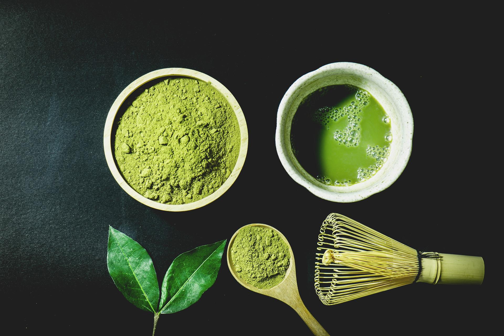 matcha green tea japan food