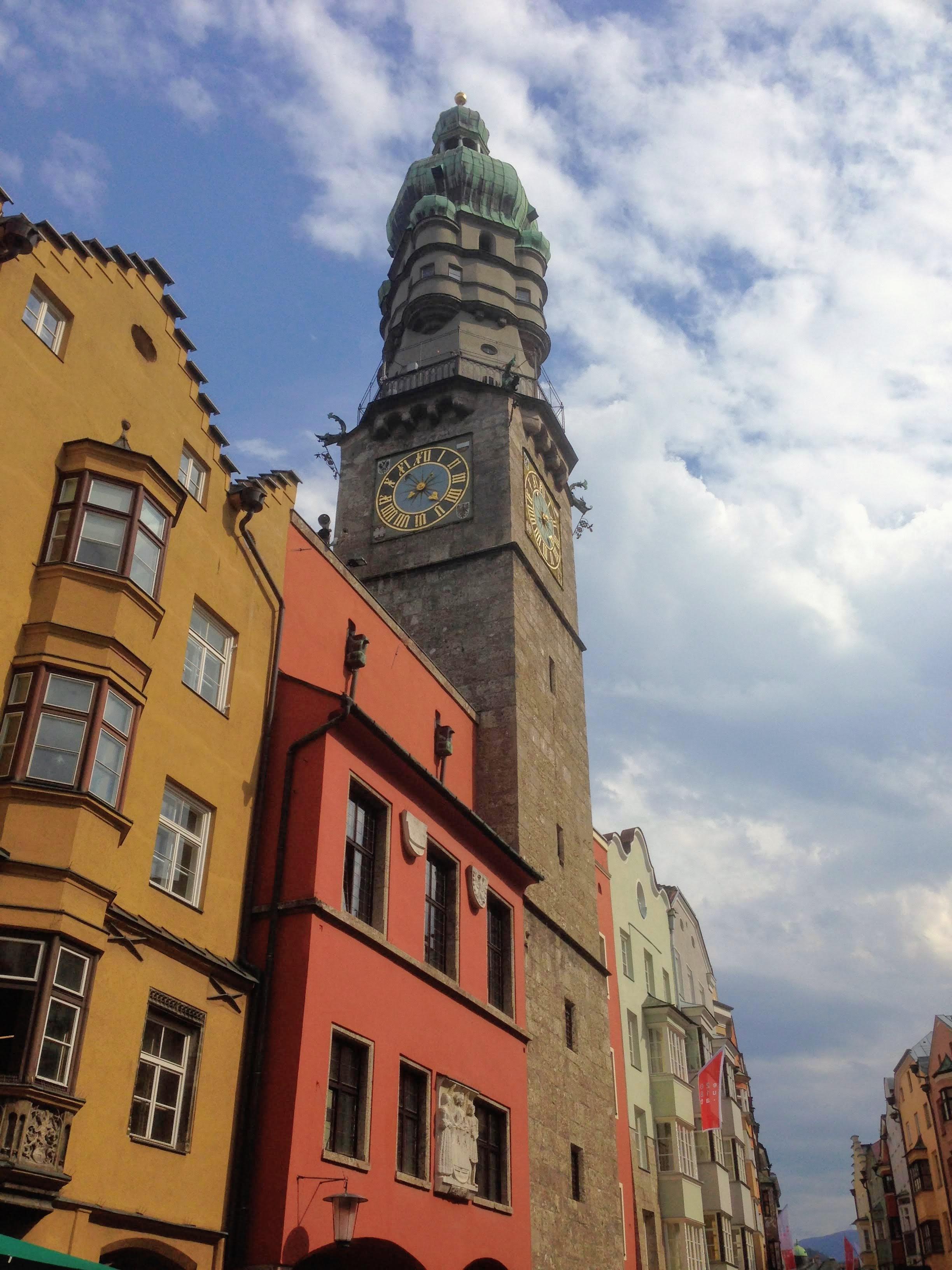 Innsbruck historic city center Austria