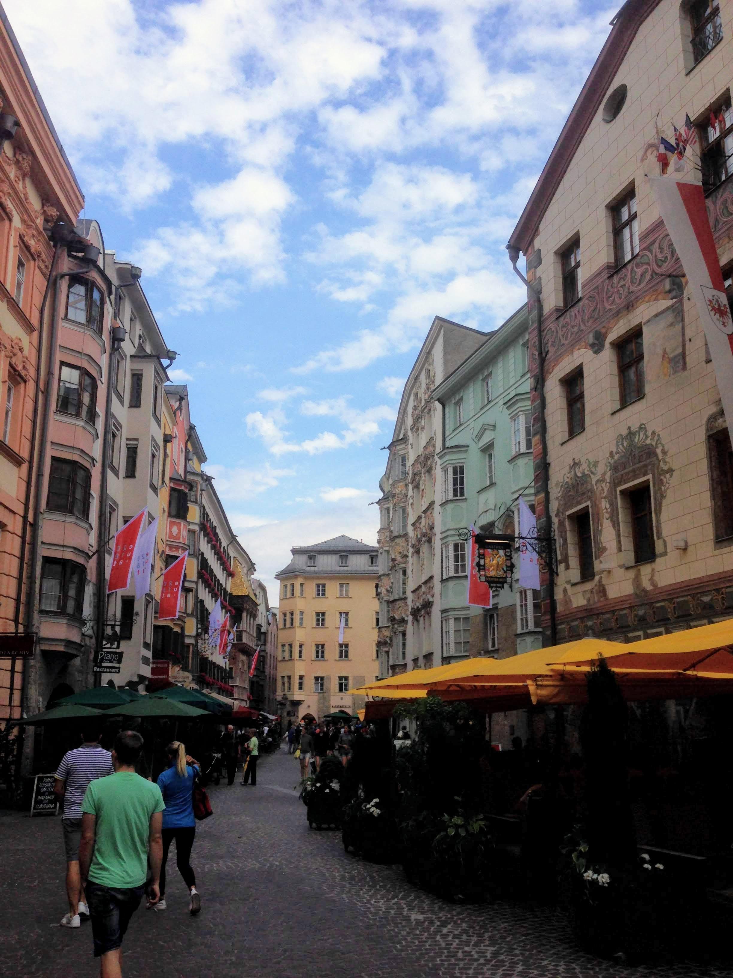 Innsbruck Austria hirstoric city center