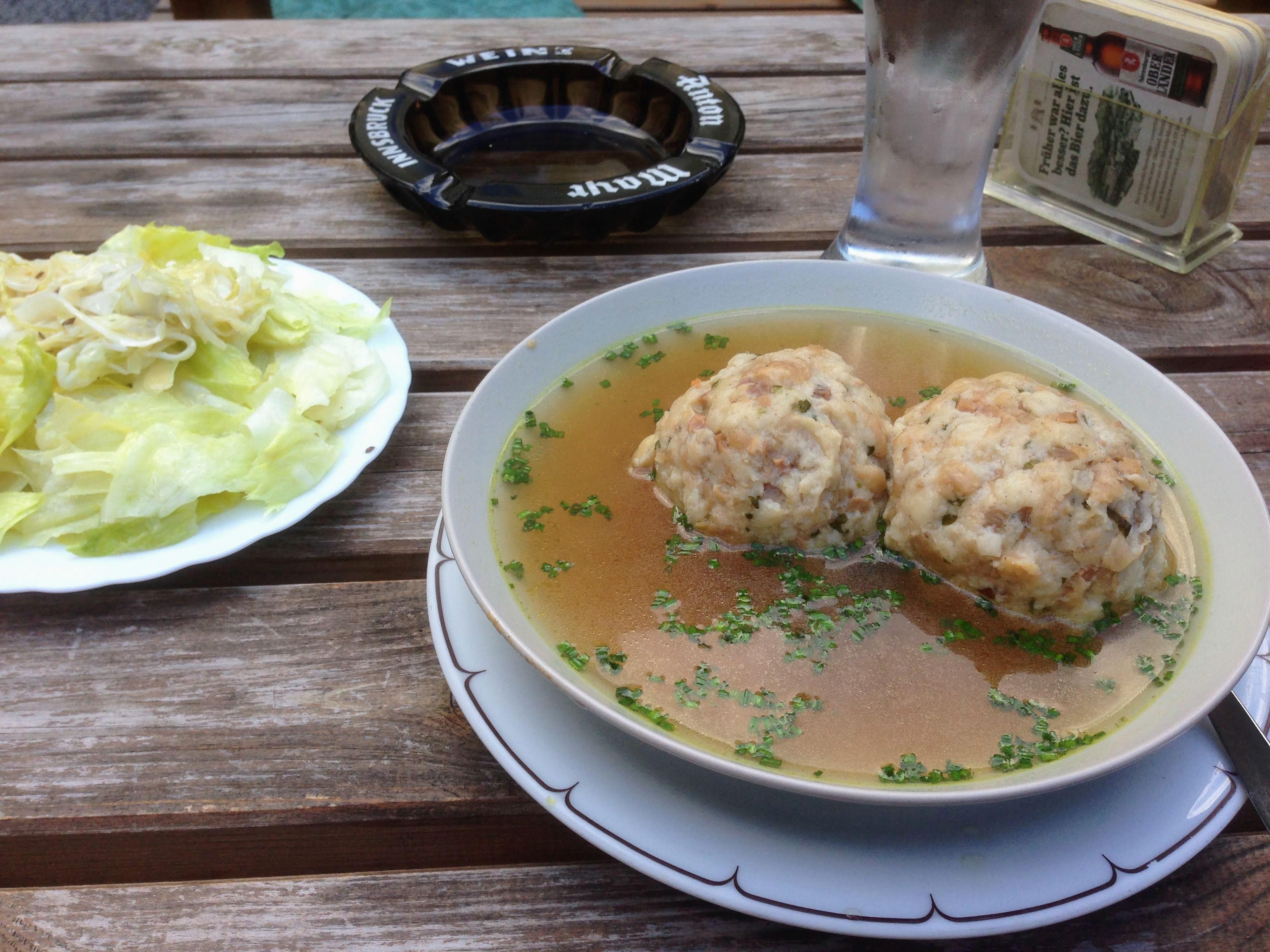 knödel Austrian dumplings Innsbruck food guide