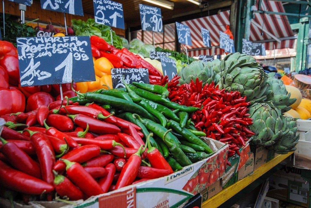 Nashmarkt Vienna vegetables