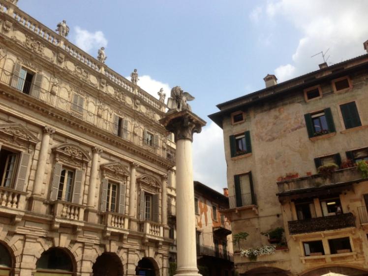Verona main square market Italy