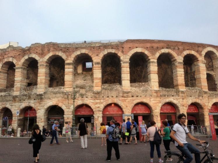 Verona theatre ancient Roman Italy amfitheatre opera