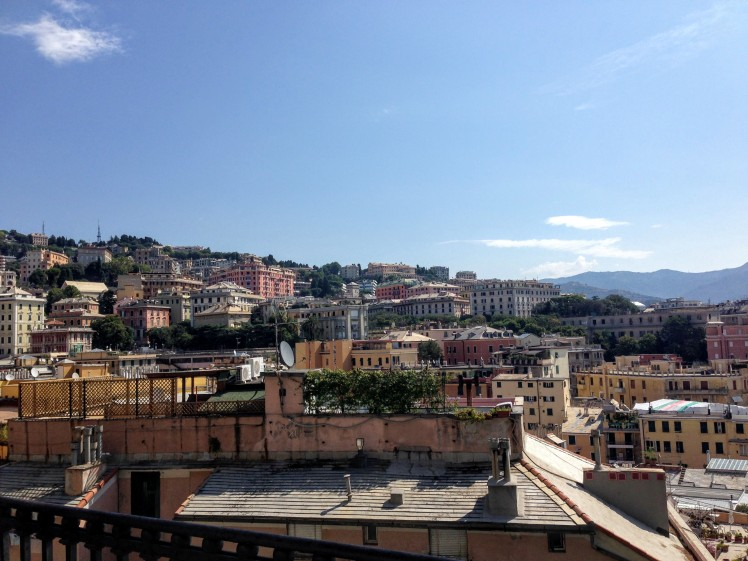 Genova viewpoint Italy Belvedere