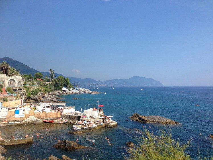Genova Italy Nervi fishermens village seaside beach