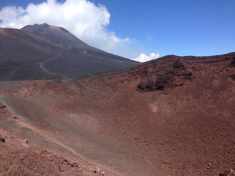 Mount Etna volcano in Sicily Italy