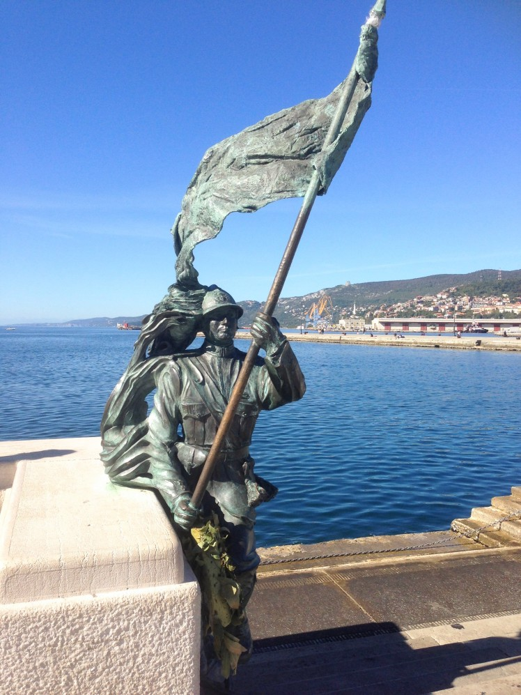 seaside harbor port Trieste Italy statue
