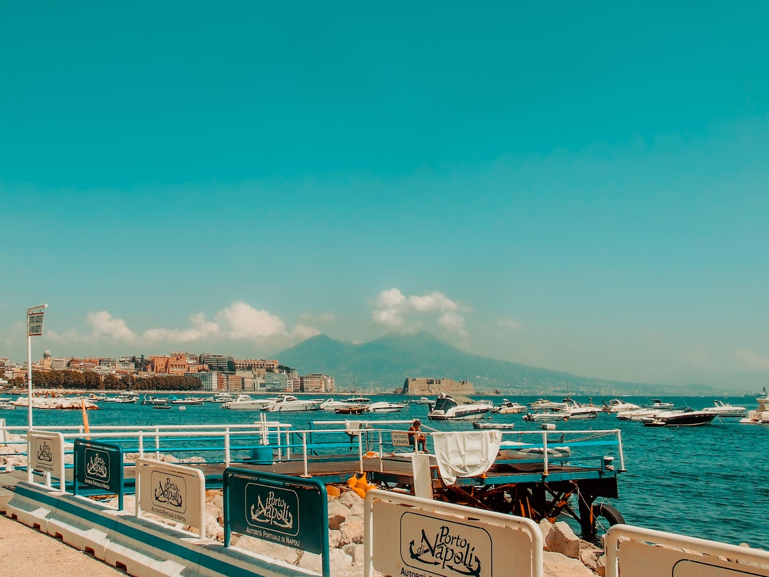 Naples beach Italy porto napoli