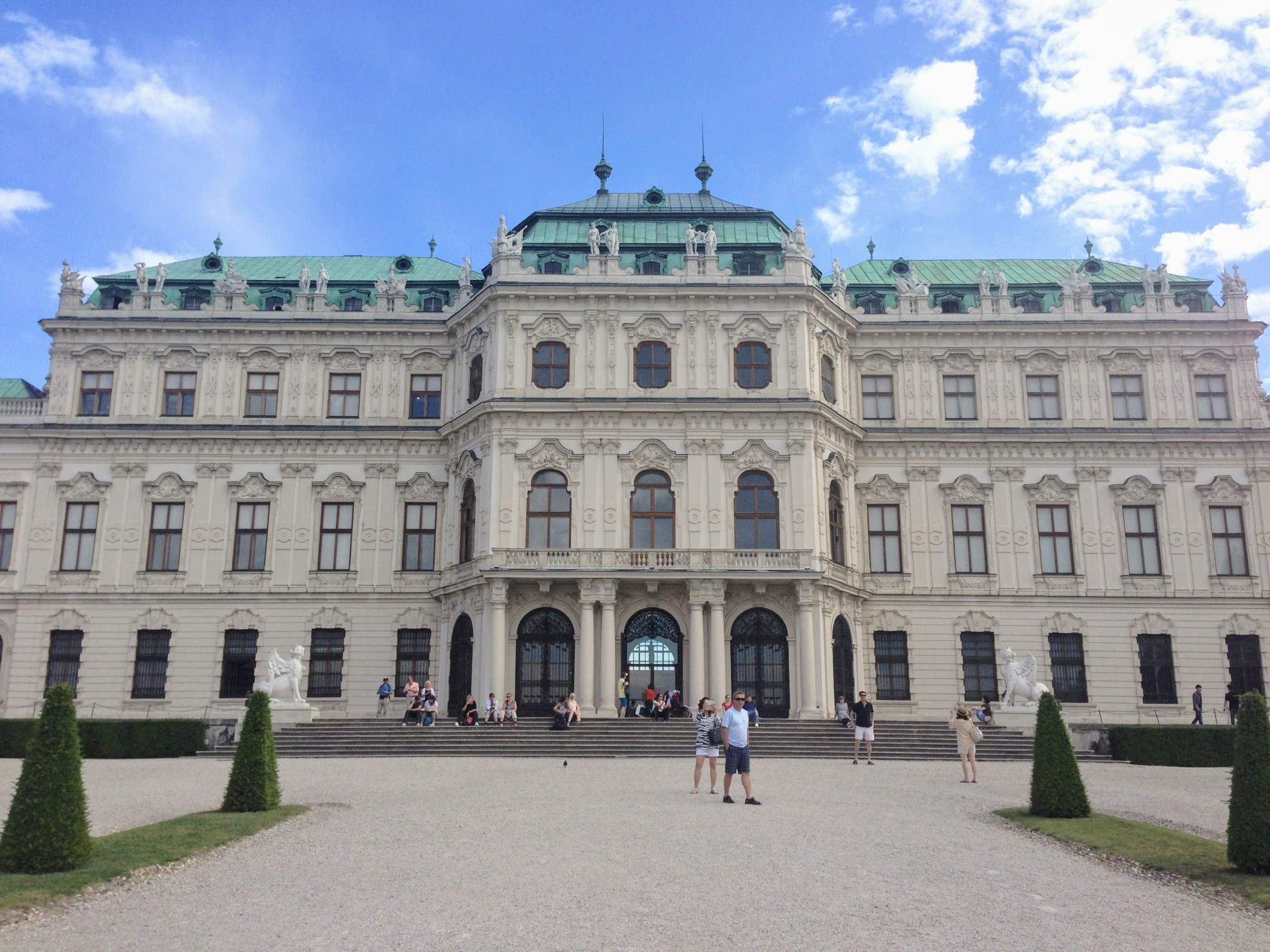 Vienna Austria Belvedere Palace