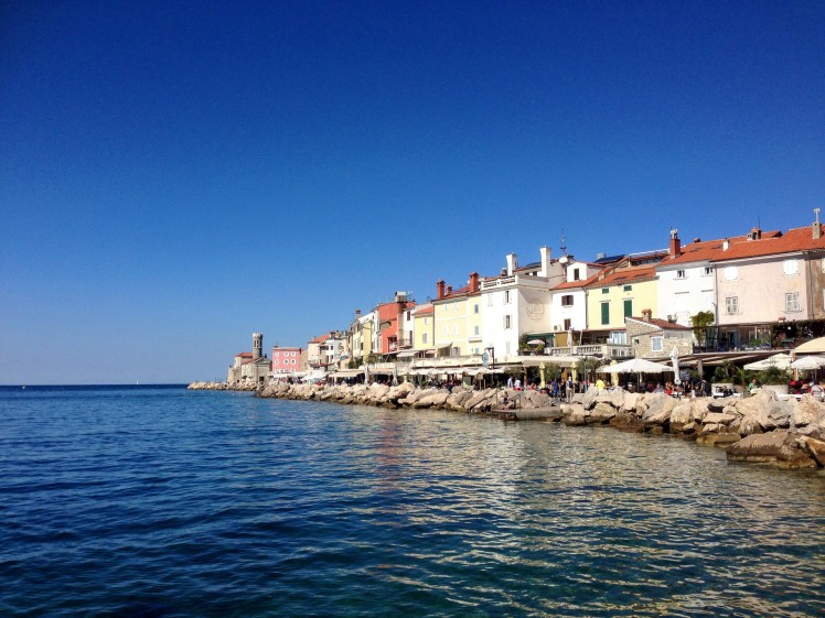 Piran slovenia boardwalk swim Adriatic sea