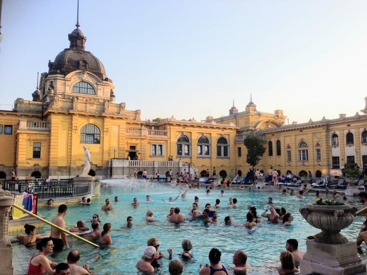 thermal bath szechenyi Budapest Hungary