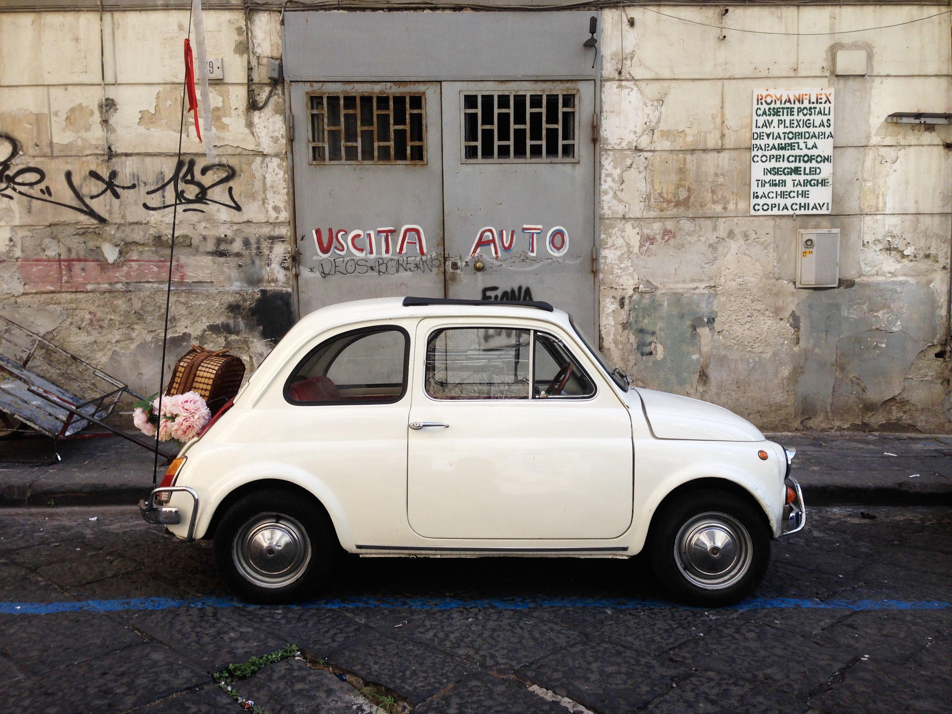 vintage fiat 500 Naples Italy car