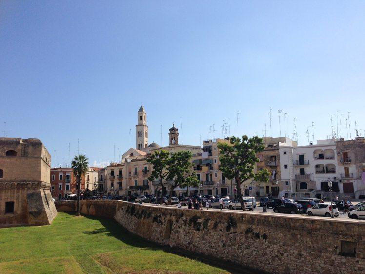 Bari Puglia Italy capital castle wall