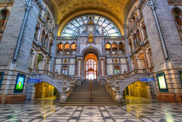 Antwerp central train station