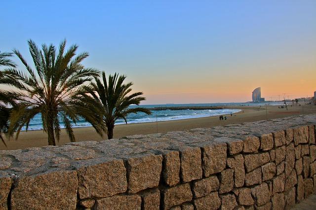 Spain Barcelona Barcelonetta beach