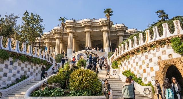 Park Guell Barcelona Spain Gaudi