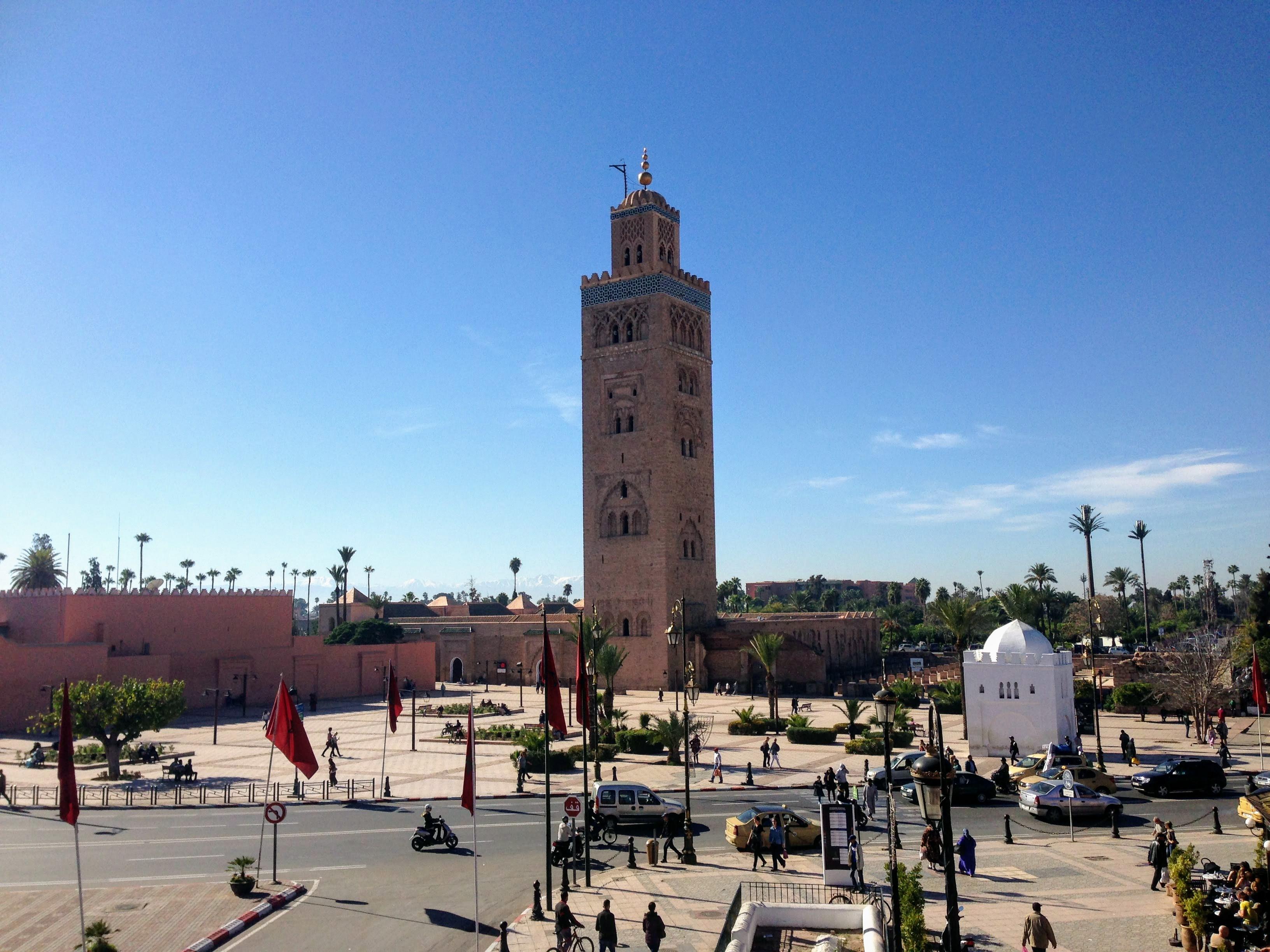 Marrakesh Marrakech minaret mosque Morocco