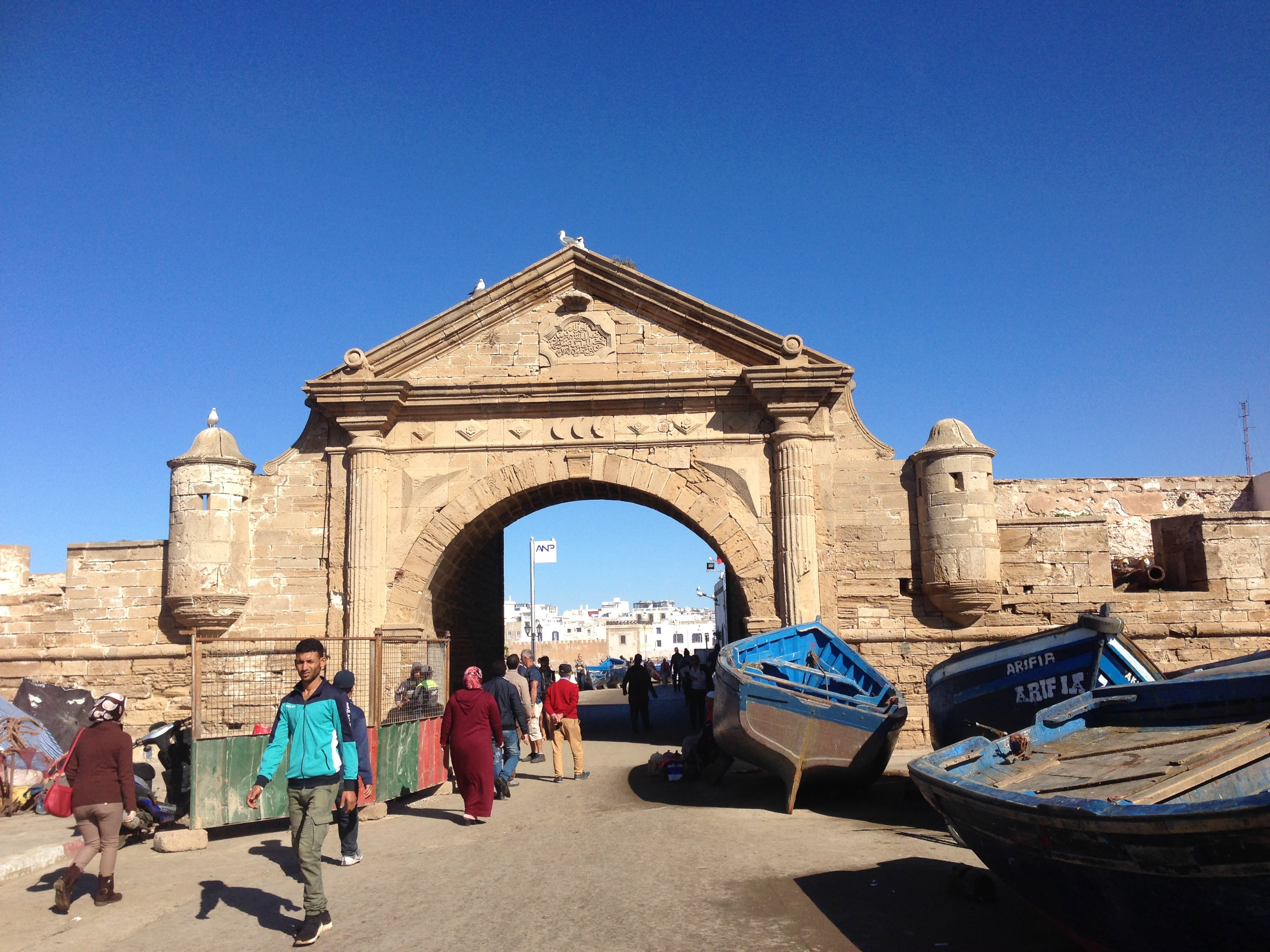 Essaouira Marocco harbor fish market beach