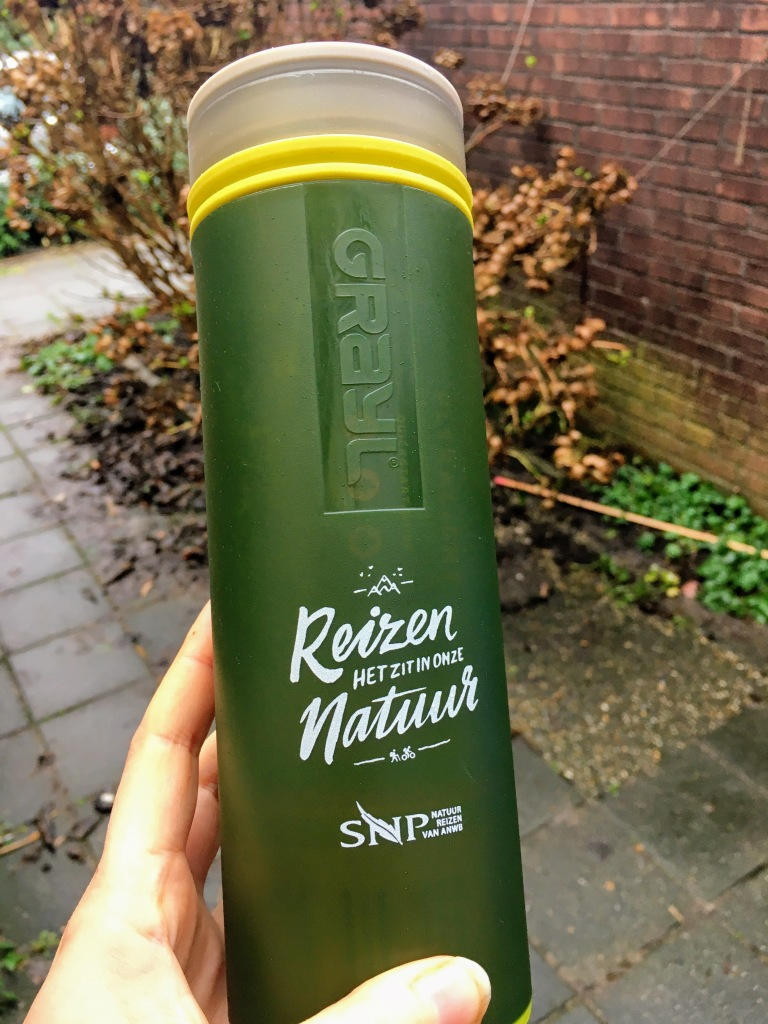 reusable water bottle grayl travel essentials