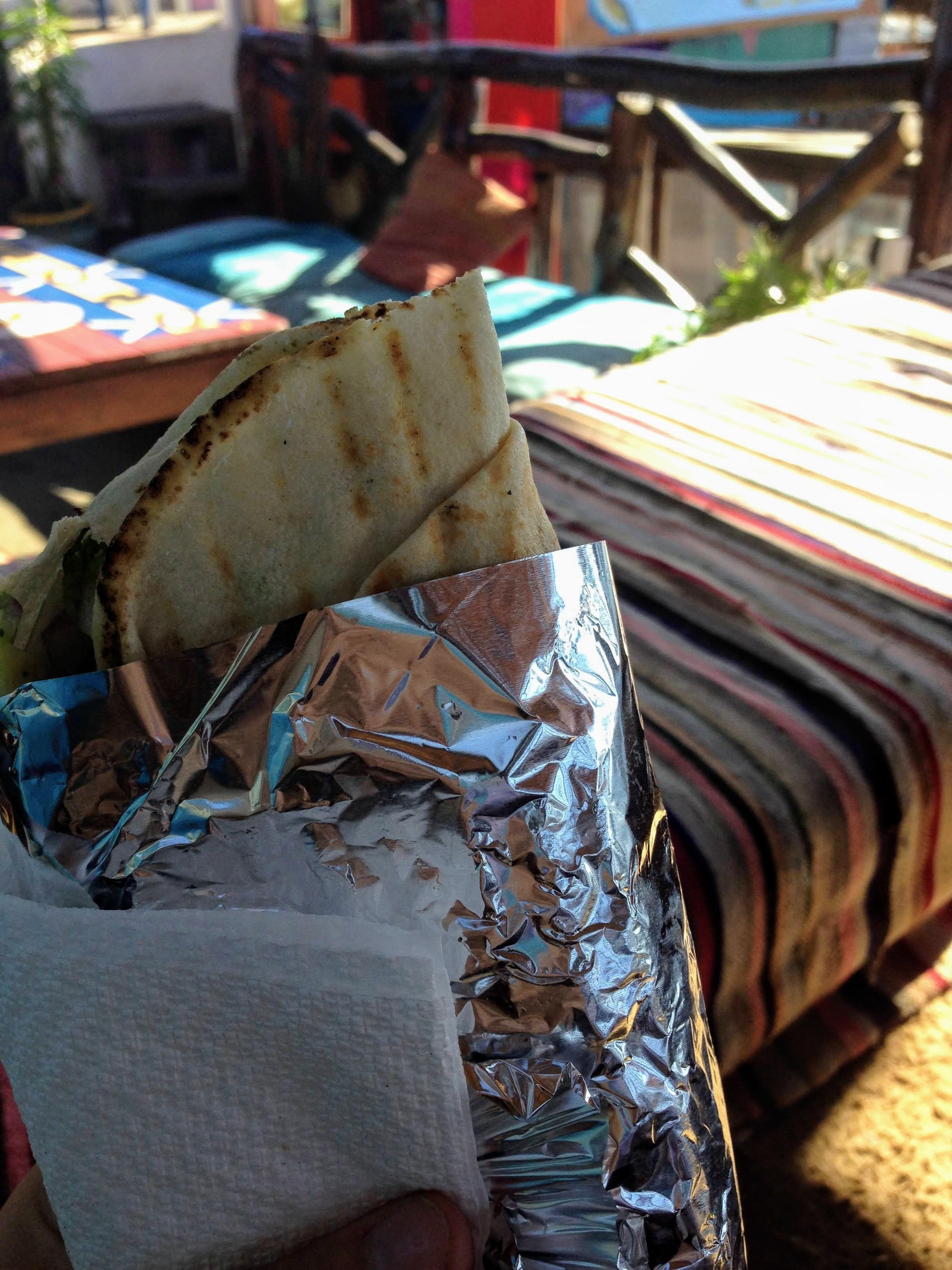 falafel sandwich Essaouira Morocco