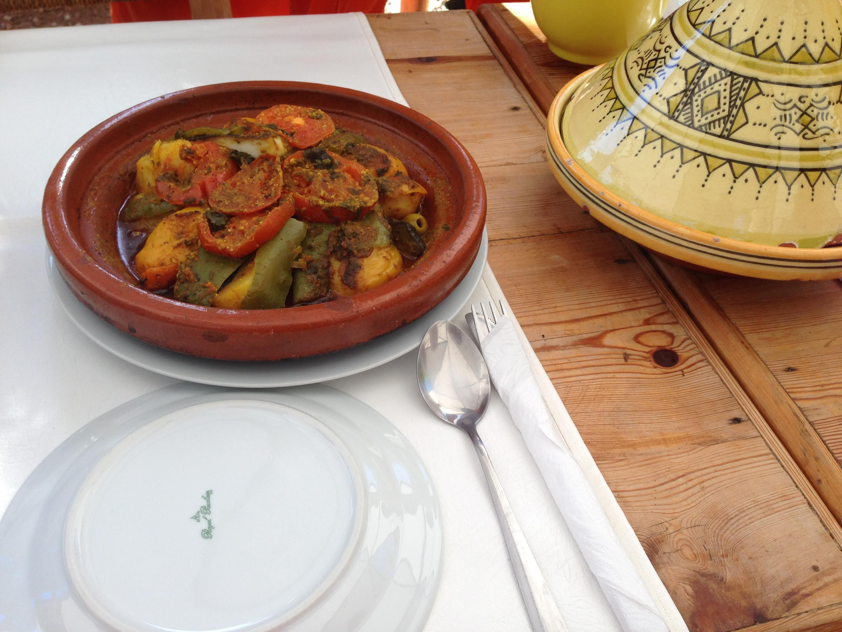 Morrocan vegetable tajine Marrakech Amal centre cooking course