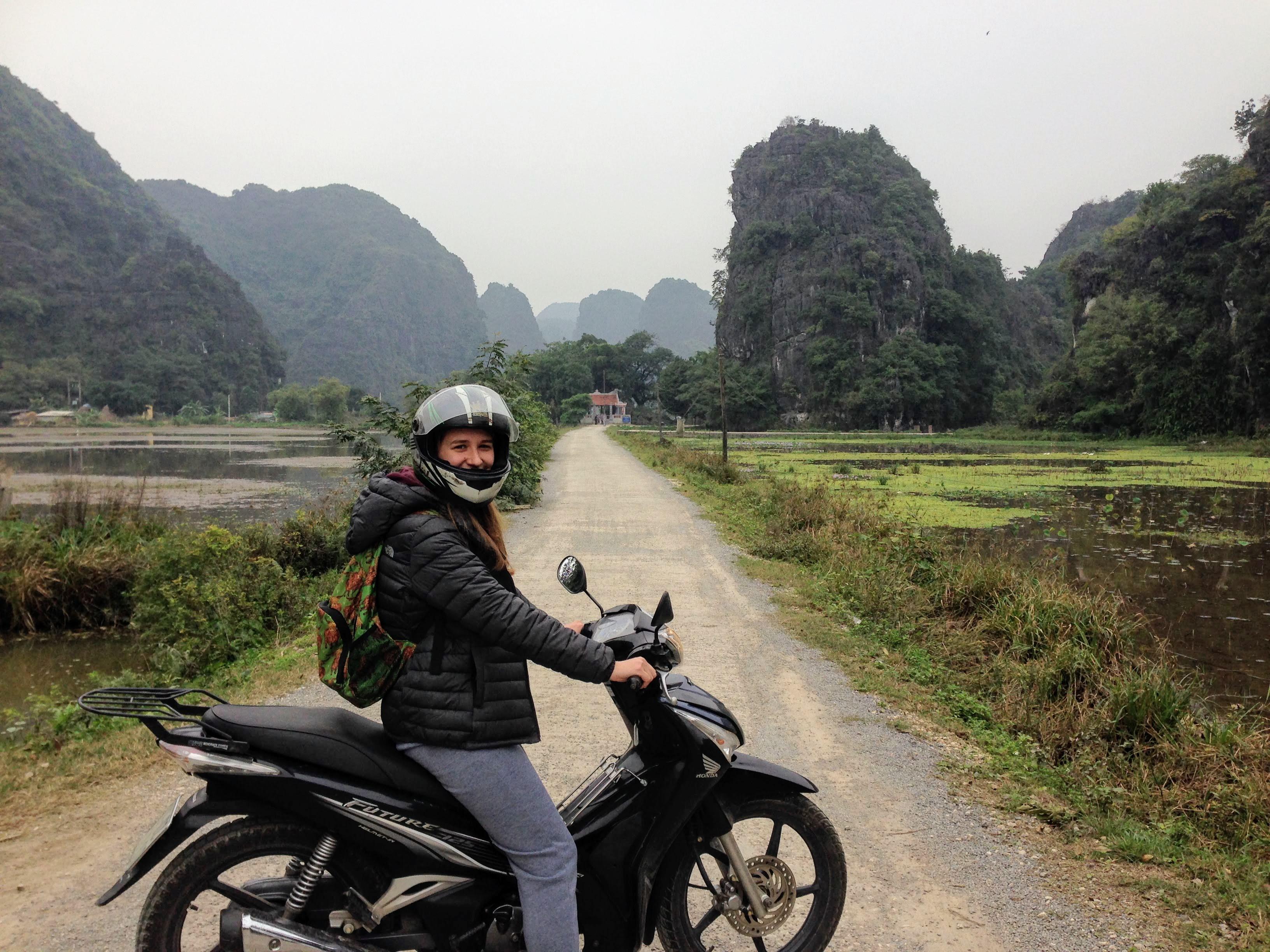 Tam Coc Vietnam motorbike