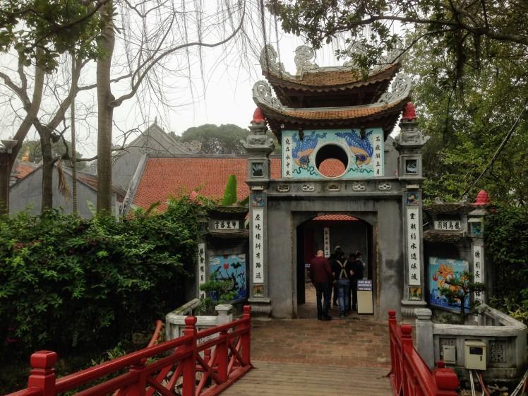 Hanoi turtle temple lake Vietnam Old Quarter