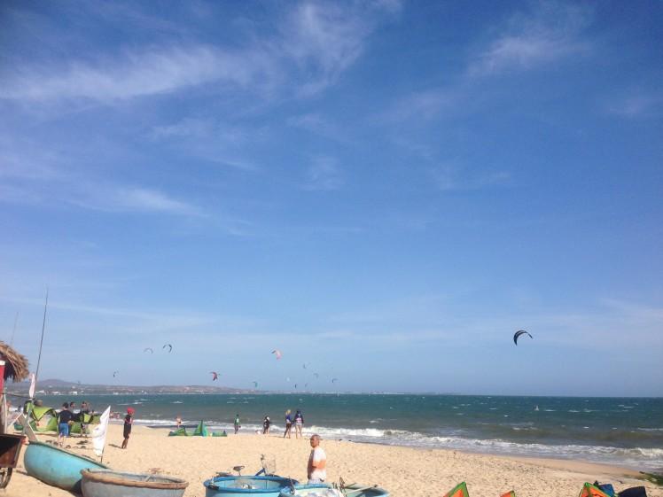 Mui Ne Beach kite surfing Vietnam Asia