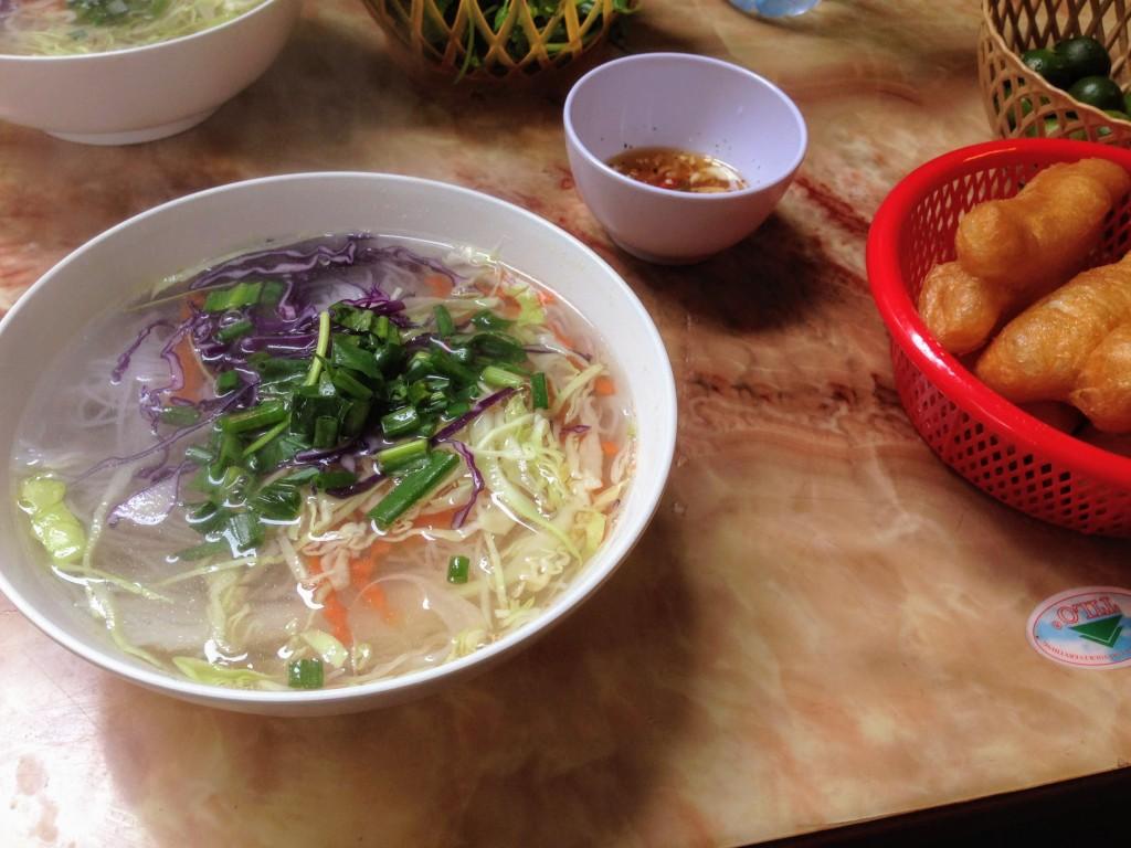 Vietnam Hanoi Pho Street Food Noodle Soup Vegetarian