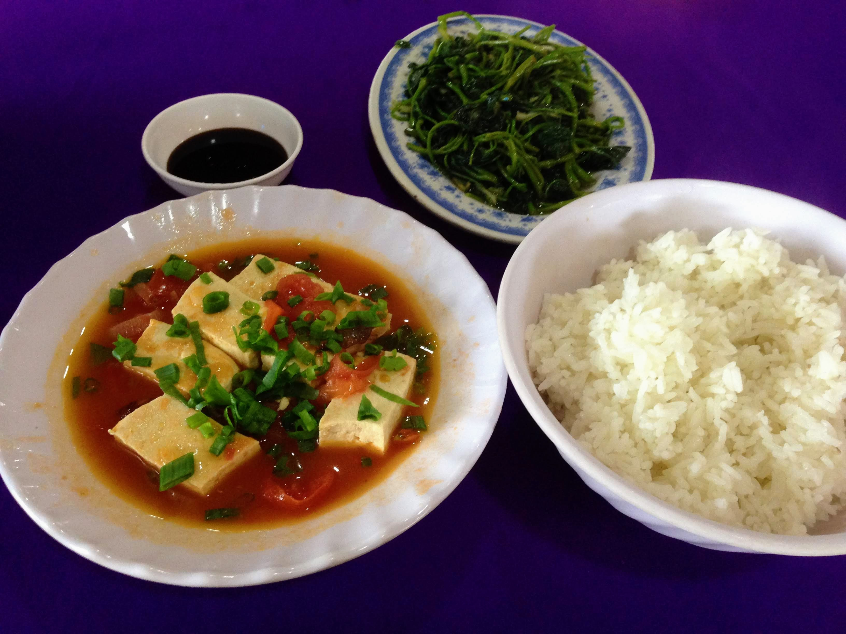 Vietnam Food Rice Tofu
