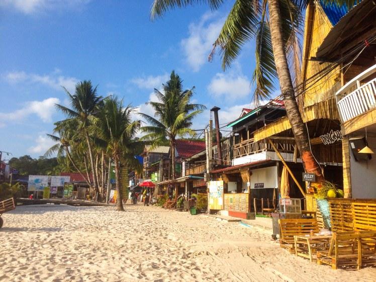 Koh Rong island Cambodia Samloem tropical paradise beach