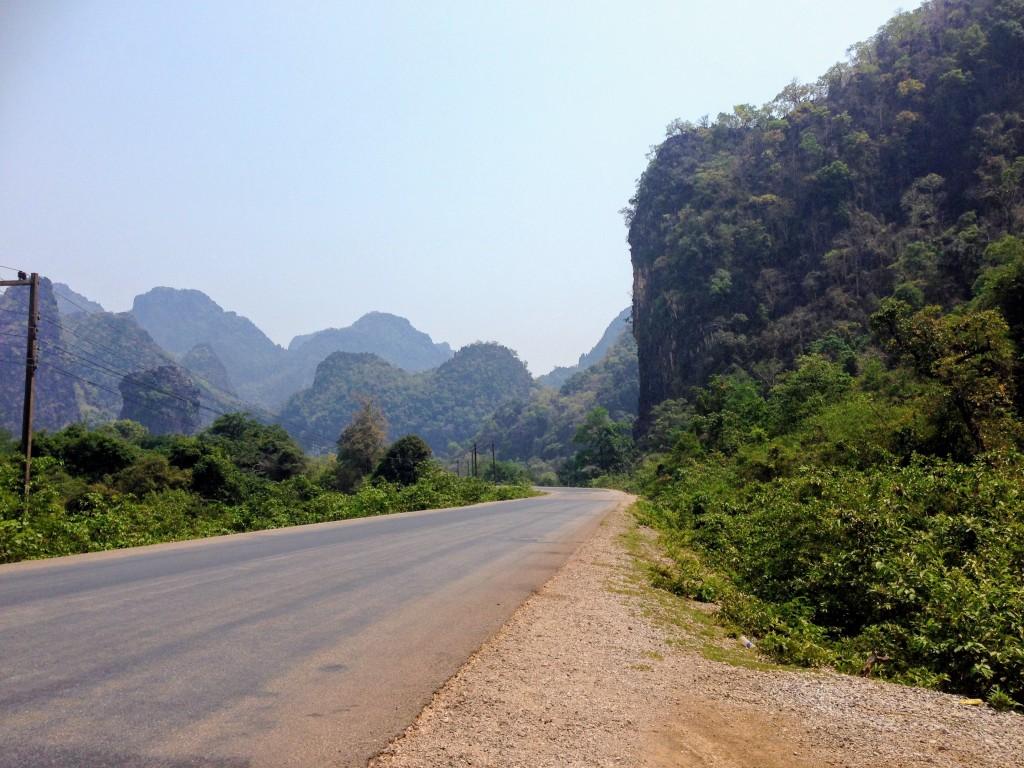 karst mountains Laos Asia landscape motorbike loop thakhek