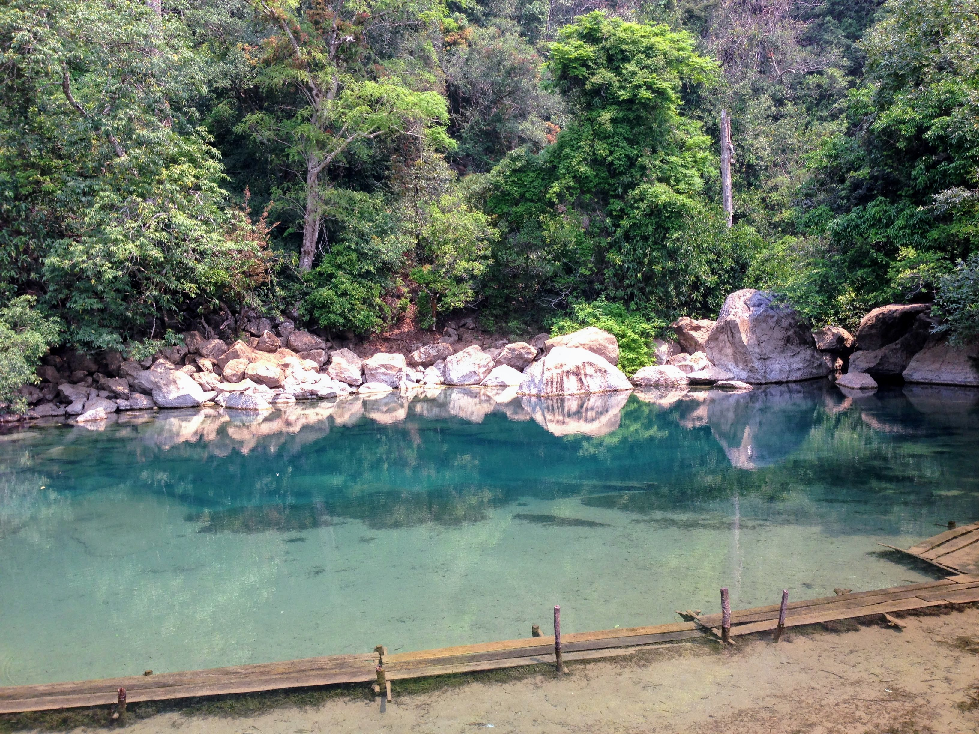 cool pool Laos motorbike loop thakhek