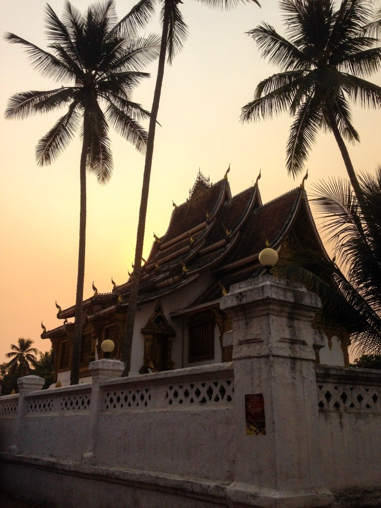Luang Prabang Laos southeast Asia temple sunset