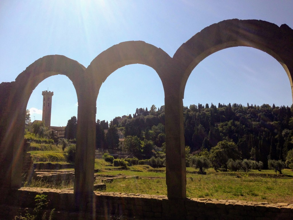 Fiesole Florence Italy archeology Roman ruins theater amphitheatre