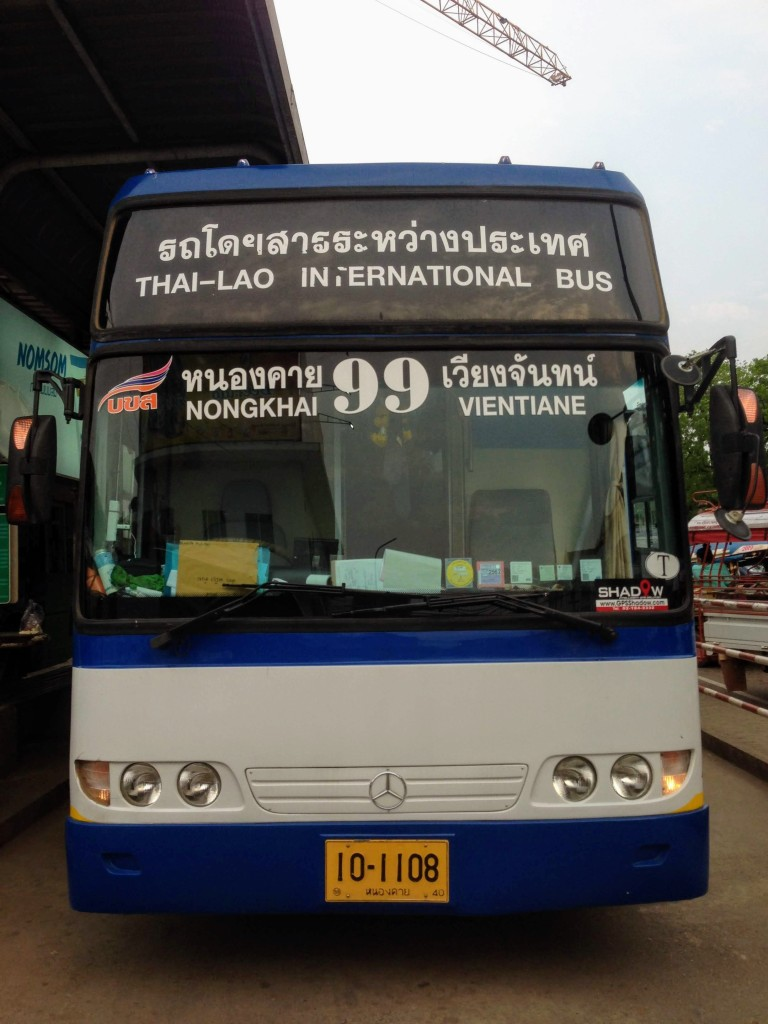 bus laos thailand nong khai vientiane friendship bridge border crossing